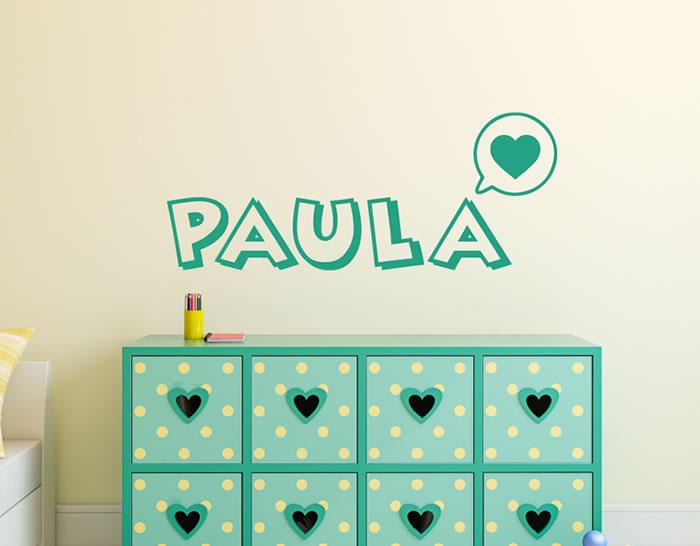Vinilos con nombres para la decoraci n de habitaciones for Vinilos infantiles personalizados