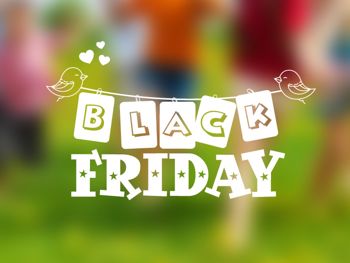 vinilo escaparate black friday infantiles