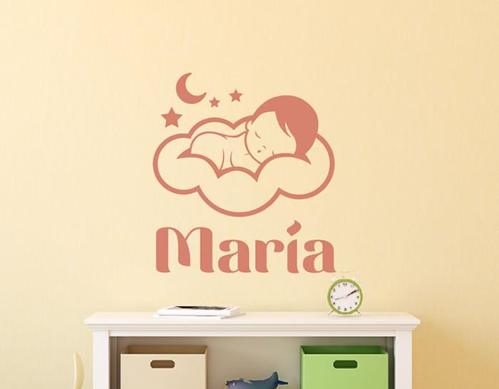 Vinilos para bebes nia proyecto decoracin habitacin de for Vinilos cuartos bebe
