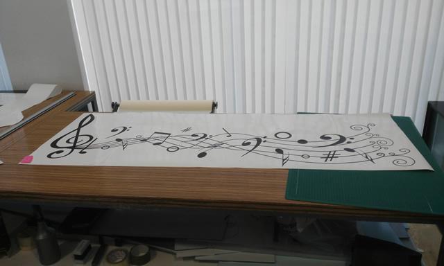 Vinilo adhesivo decoraci n notas musicales 03229 for Vinilos decorativos musicales baratos