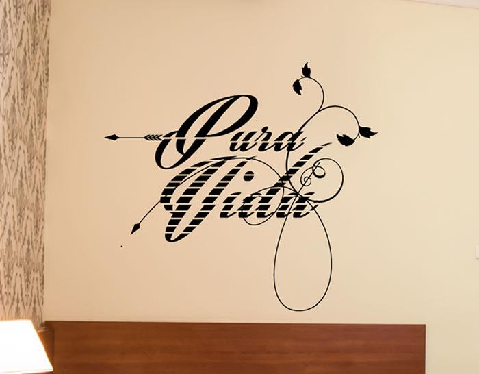 Vinilos parea decoraci n de paredes con textos pura vida - Vinilos con textos ...