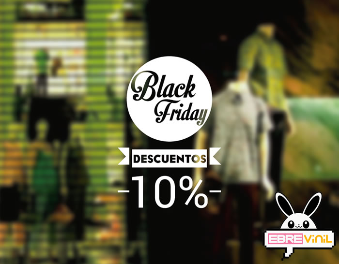 "Vinilo personalizado para escaparates de tiendas ""Black Friday"""