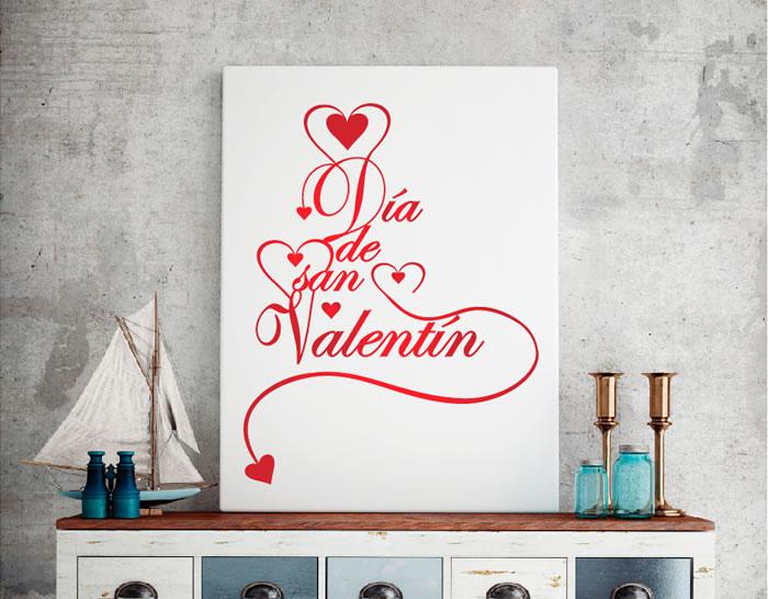 Decoracion San Valentin Tiendas ~   decorativo con corazones y texto para el D?a de San Valent?n 04809