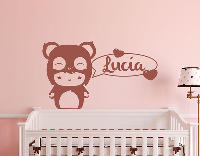 Vinilos con nombres para la pared del cuarto de la ni a for Vinilos infantiles nina
