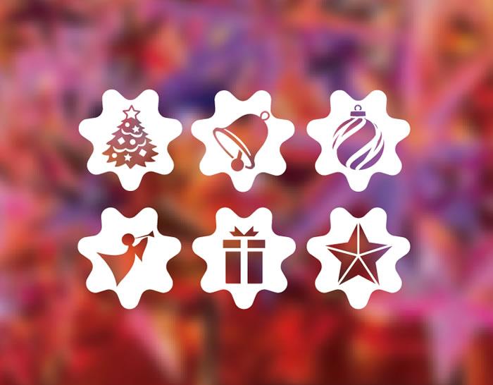 vinilos decorativos navideos con adornos de navidad