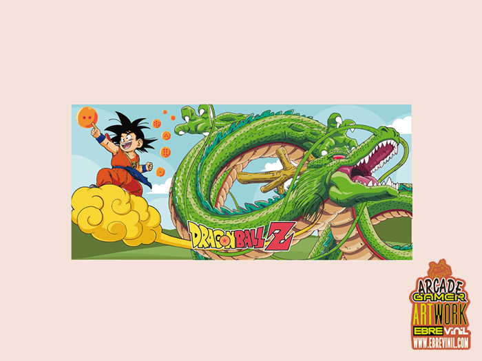 vinilos decorativos bartop dragon ball
