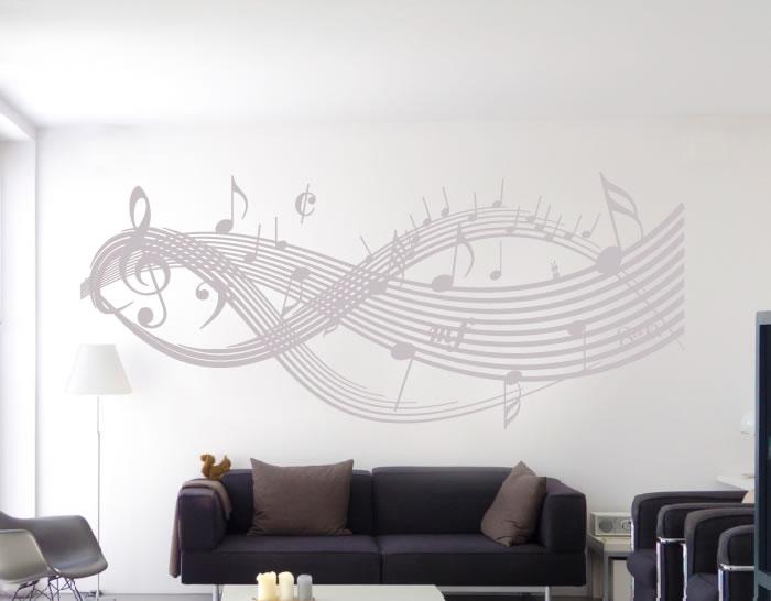 Vinilo decorativo pentagrama musical notas musicales - Vinilos decorativos musicales ...