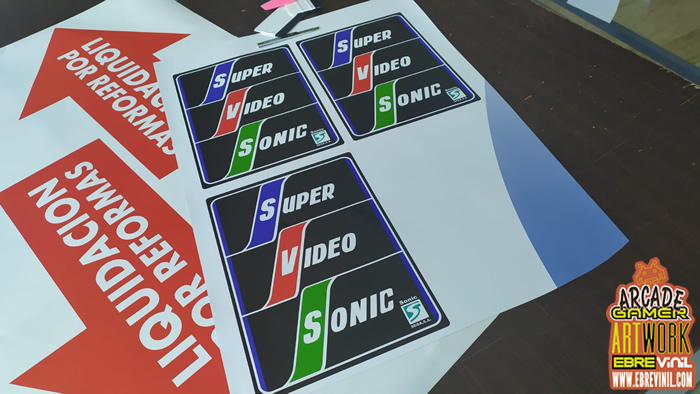 vinilos super video sonic