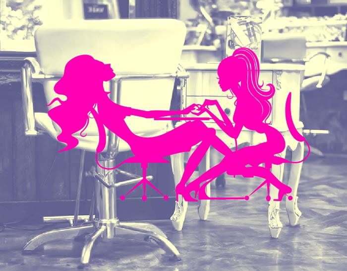Decoraci n con vinilos adhesivos peluquer as y salones de for Salones de peluqueria decoracion fotos