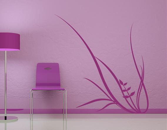 Decoraci n paredes vinilo decorativo floral 01773 - Decoracion murales paredes ...