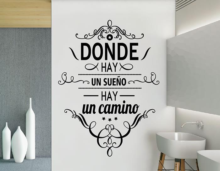 Vinilos online con citas palabras y textos originales for Vinilos murales adhesivos