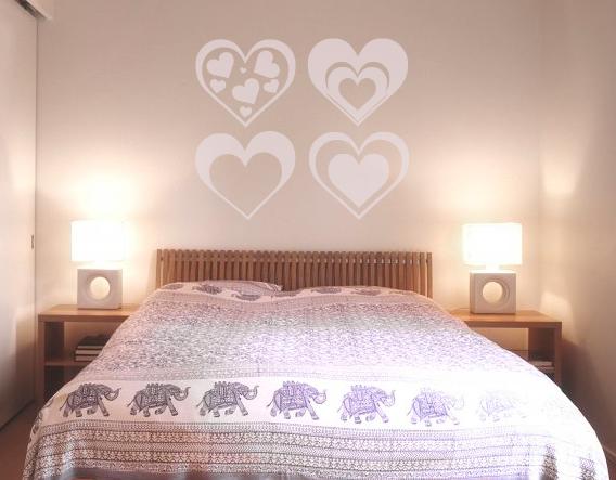 Vinilos de pared adhesivos corazones para san valent n for Decoracion paredes vinilos adhesivos