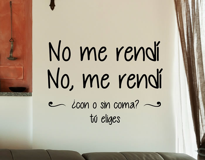 Vinilos con frases celebres especiales para la decoraci n for Pegatinas frases pared