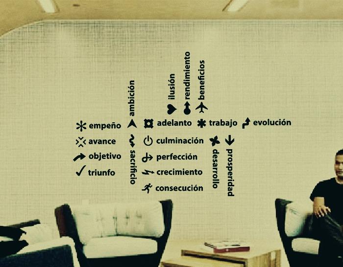 Vinilo textos y frases para la decoraci n de paredes - Decoracion de paredes con vinilos ...
