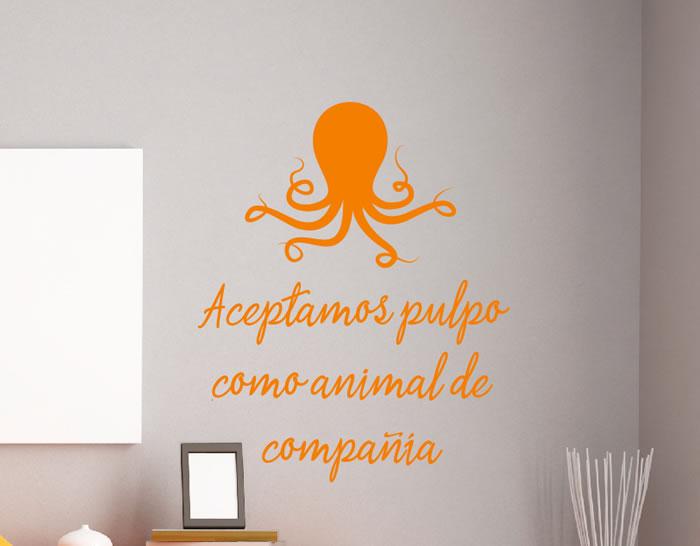 Complementos decorativos adhesivos aceptamos pulpo como for Complementos decorativos