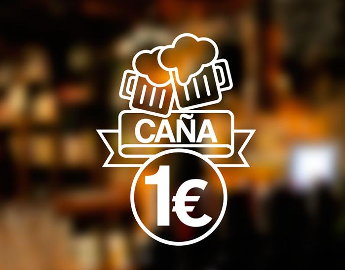 Vinilo para promoci n de bares en puertas y cristales ca a de cerveza oferta 04741 tienda for Oferta vinilos pared