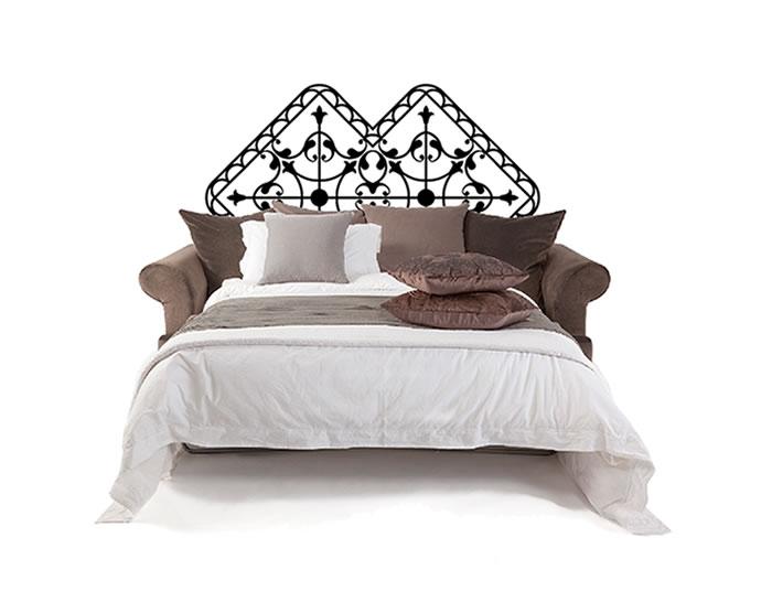 Cabecero de cama en vinilo adhesivo 03550 tienda online for Vinilos dormitorio matrimonio