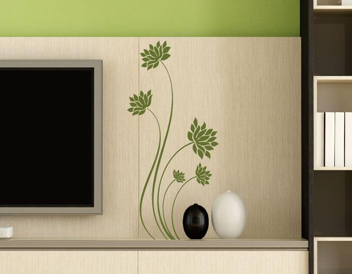 Vinilos adhesivos de pared composici n floral oriental for Vinilos por internet