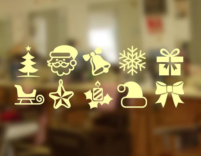 Vinilos navide os con los adornos m s tradicionales de - Vinilos decorativos de navidad ...
