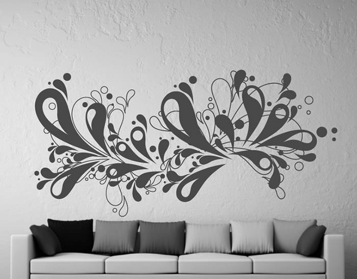 Vinilo decorativo abstracto formas vivas 03230 tienda - Vinilos recibidor ...