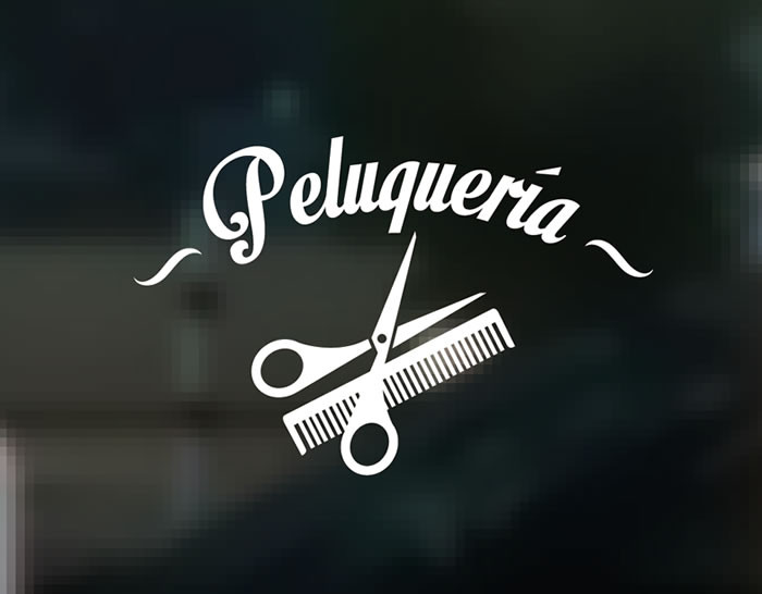 Decoraci n de peluquer as con vinilos adhesivos especiales para colocar en cristales 04372 - Peluquerias decoradas por ikea ...