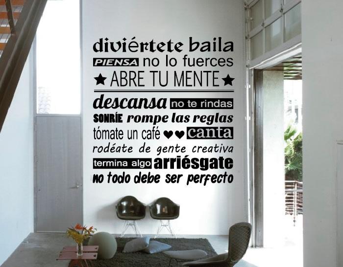 Vinilo adhesivo sobre frases y letras autoestima 02737 for Vinilos decorativos letras