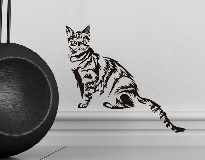 Vinilo decorativo tema animales gatos 5 0634 tienda - Vinilos decorativos gatos ...