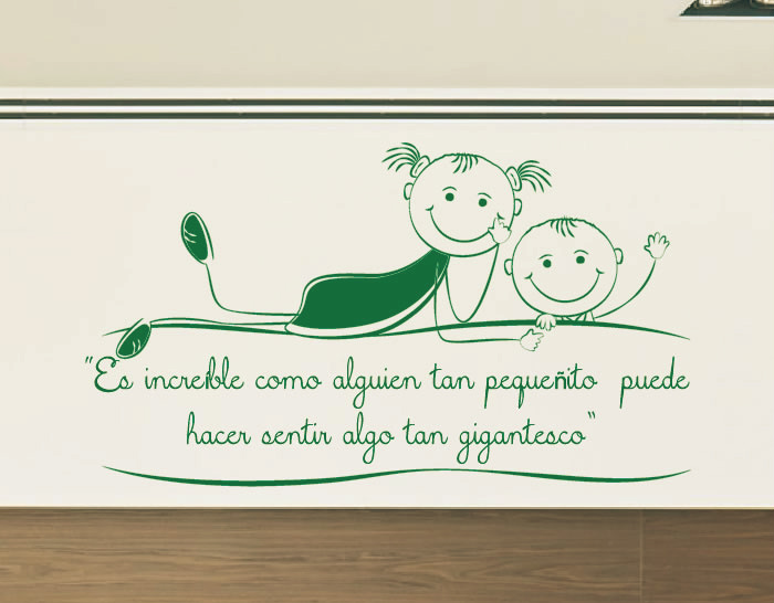 Vinilo decorativo beb s es incre ble como alguien tan for Frases en vinilo para pared