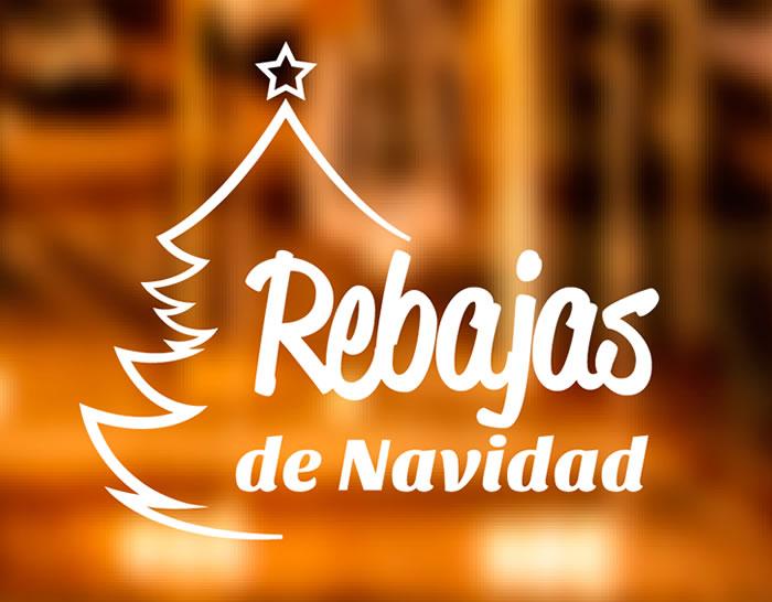 Reclamo para las rebajas de navidad en tiendas y comercios - Adornos de navidad para escaparates ...