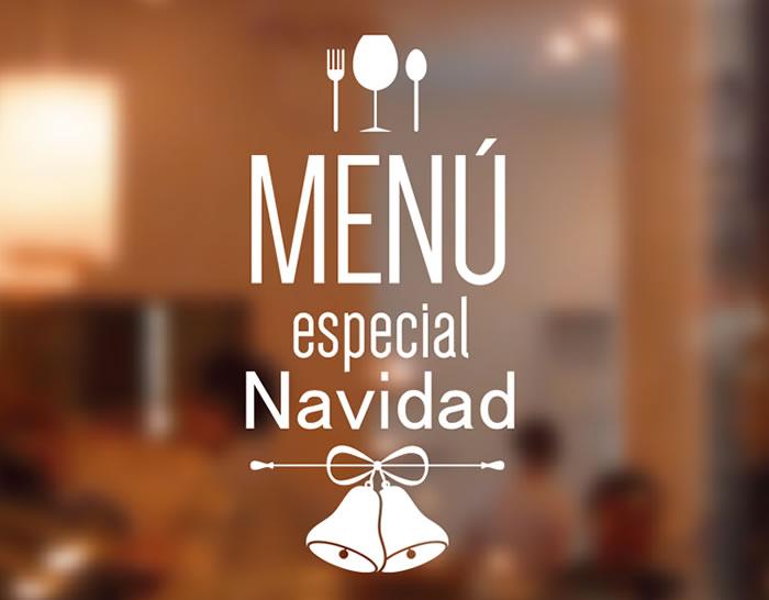 Vinilo para restaurantes y bares men espacial navidad 04764 tienda online de vinilos - Restaurante para navidad ...