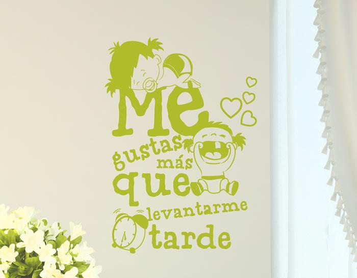 Vinilos Con Frases Romanticas Y De Amor Me Gustas Mas Que