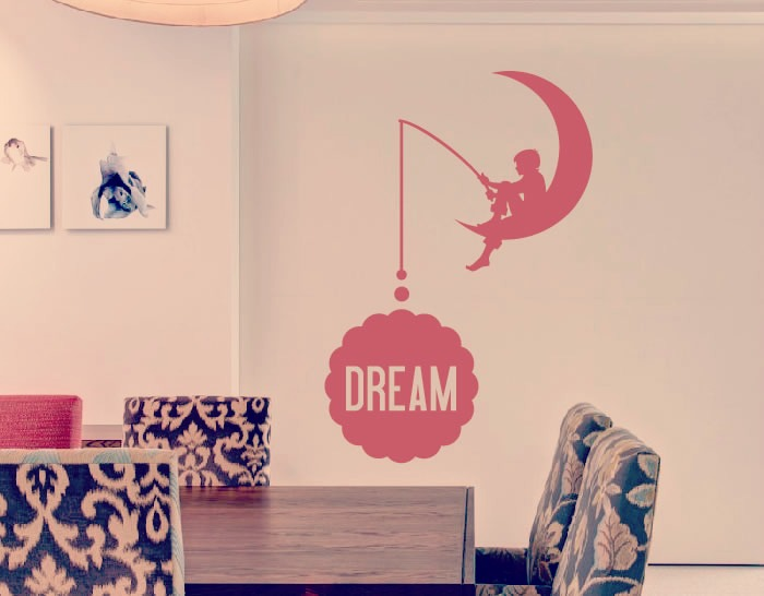 Vinilo decoraci n con textos y frases dream 02668 - Decoracion vinilo pared ...